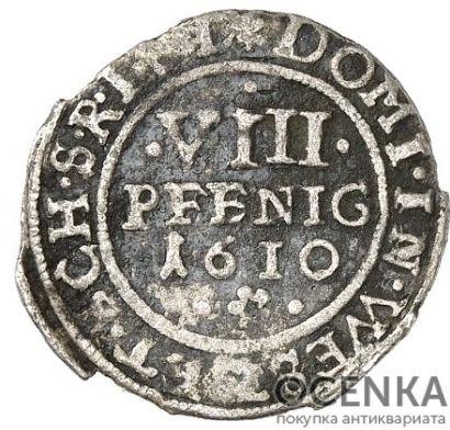 Серебряная монета 8 Пфеннигов (8 Pfennig) Германия - 2