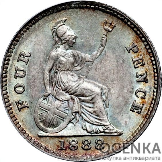 Серебряная монета 4 Пенса (4 Pence) Великобритания - 6