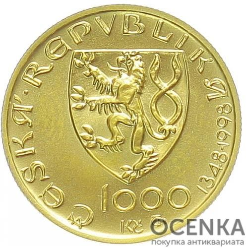 Золотая монета 1000 Крон (1000 Korun) Чехия - 2