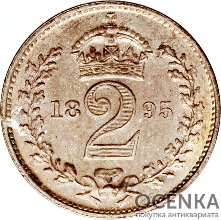 Серебряная монета 2 Пенса (2 Pence) Великобритания - 6