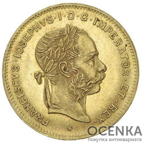 Золотая монета 4 флорина (10 франков) Австро-Венгрии - 6