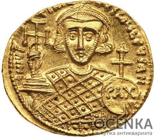Золотой солид Византии, Юстиниан II, Второе правление, 705-711 год