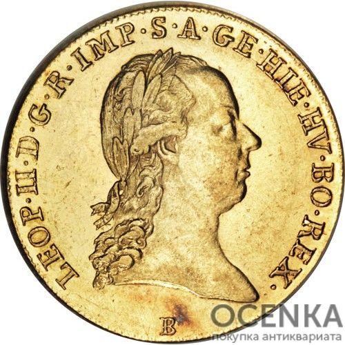 Золотая монета 1 соверен Австро-Венгрии - 1
