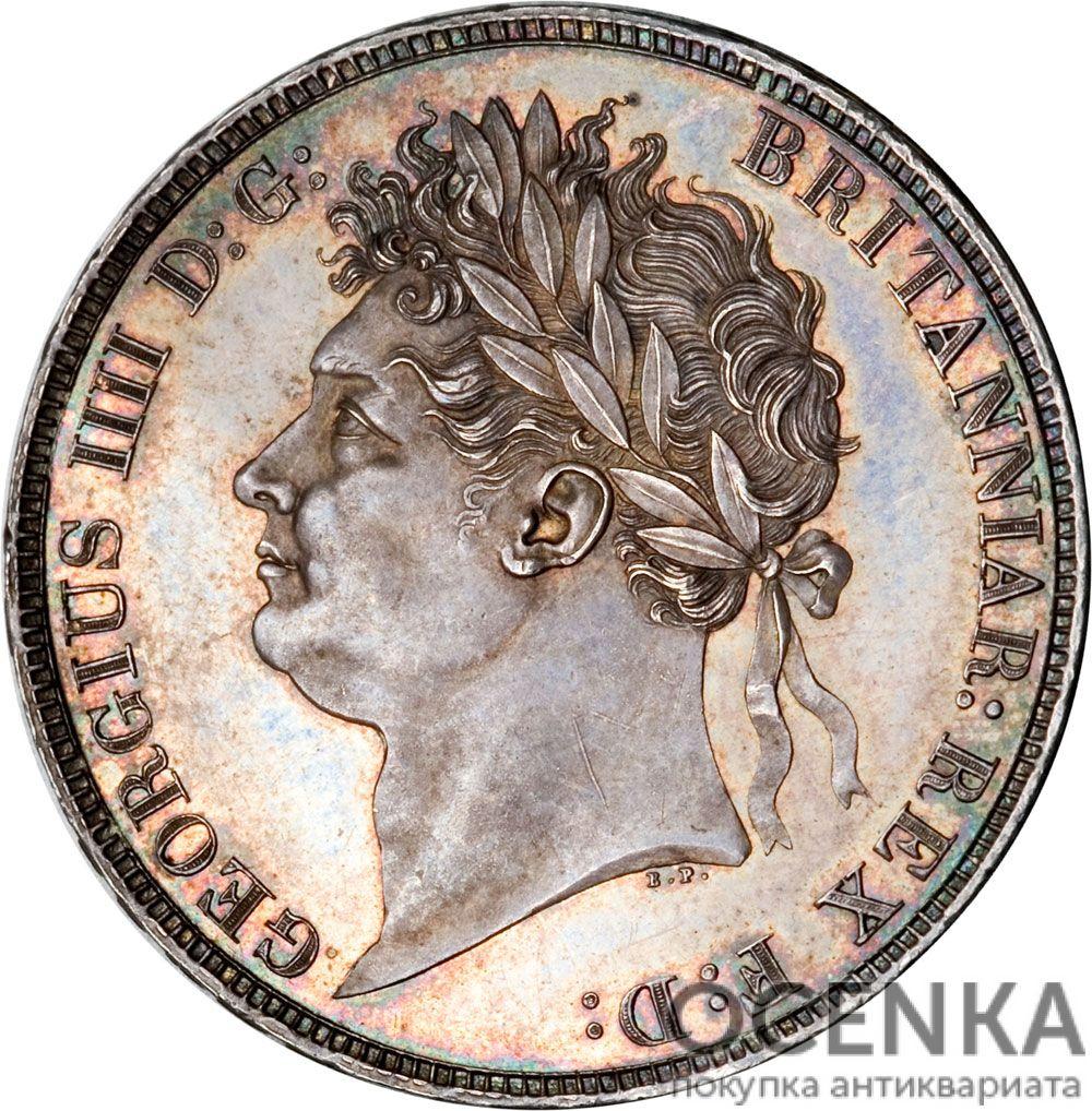 Серебряная монета 1 Крона (1 Crown) Великобритания - 3