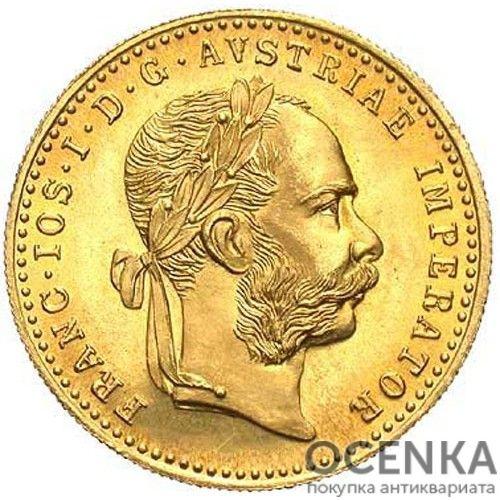 Золотая монета 1 дукат Австро-Венгрии - 7