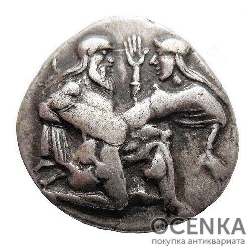 Серебряная монета Статер Древней Греции