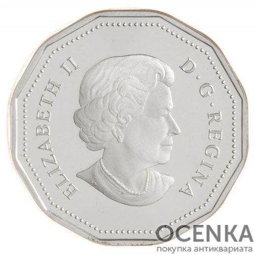 Серебряная монета 5 Центов Канады - 5
