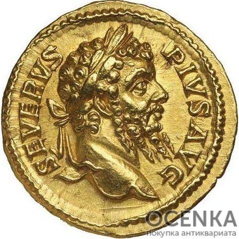 Золотой ауреус, Цезарь Луций Септимий Север Пертинакс Август, 193-211 год