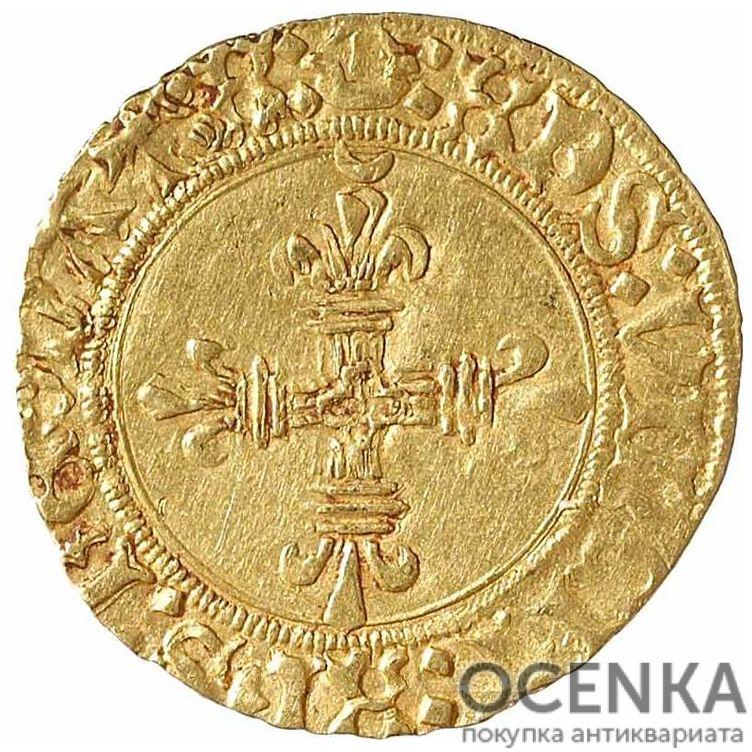 Золотая монета ½ Дьёра (½ d'Or) Франция - 6
