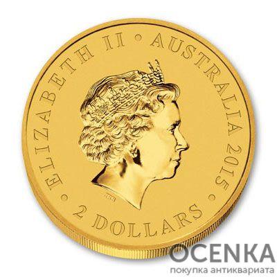 Золотая монета 2 доллара 2015 год. Австралия. Клиновидный орел - 1