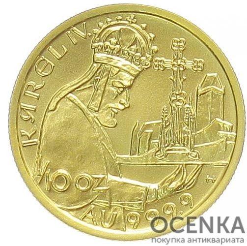 Золотая монета 1000 Крон (1000 Korun) Чехия - 3