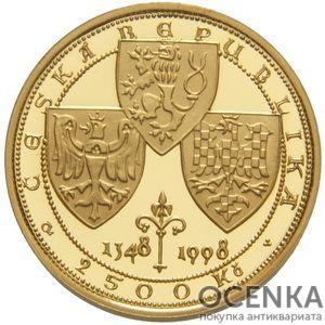 Золотая монета 2500 Крон (2500 Korun) Чехия - 4