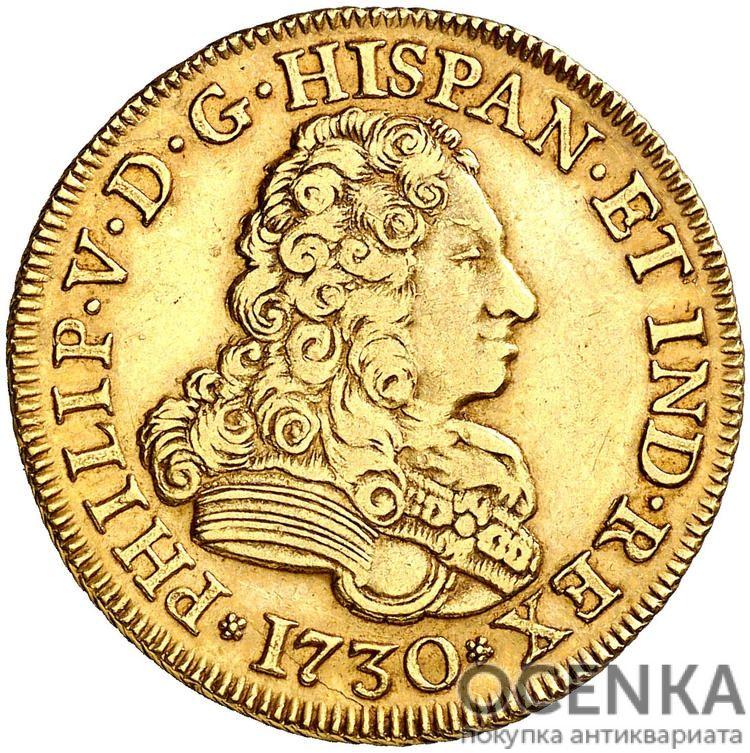 Золотая монета 4 Эскудо (4 Escudos) Испания - 5