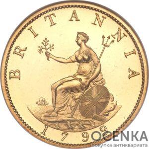 Золотая монета ½ Penny (1/2 пенни) Великобритания