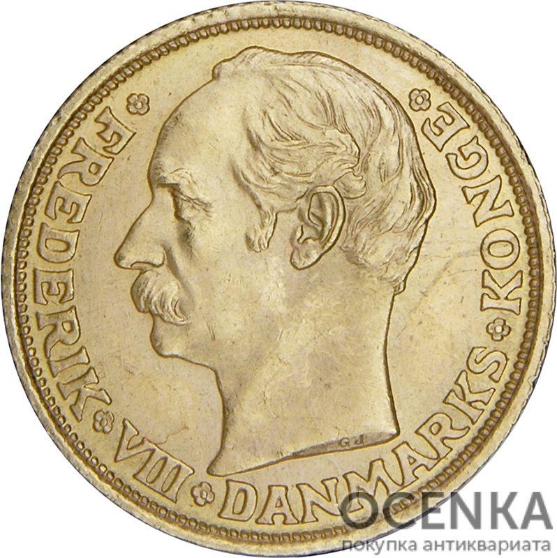 Золотая монета 10 Крон (10 Kroner) Дания - 3