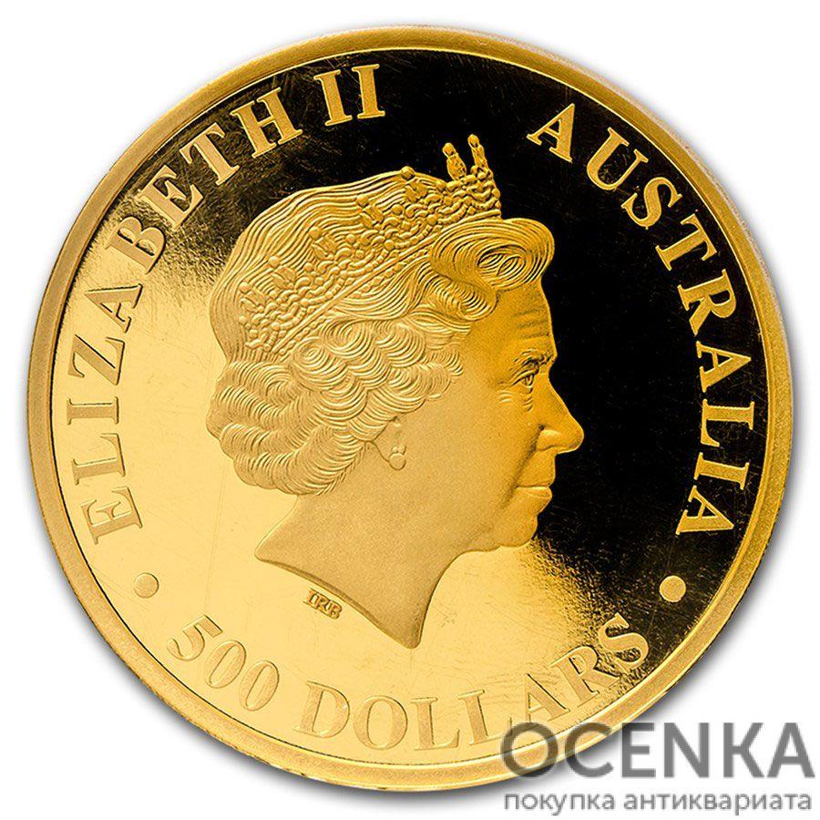 Золотая монета 500 долларов 2015 год. Австралия. Клиновидный орел - 1