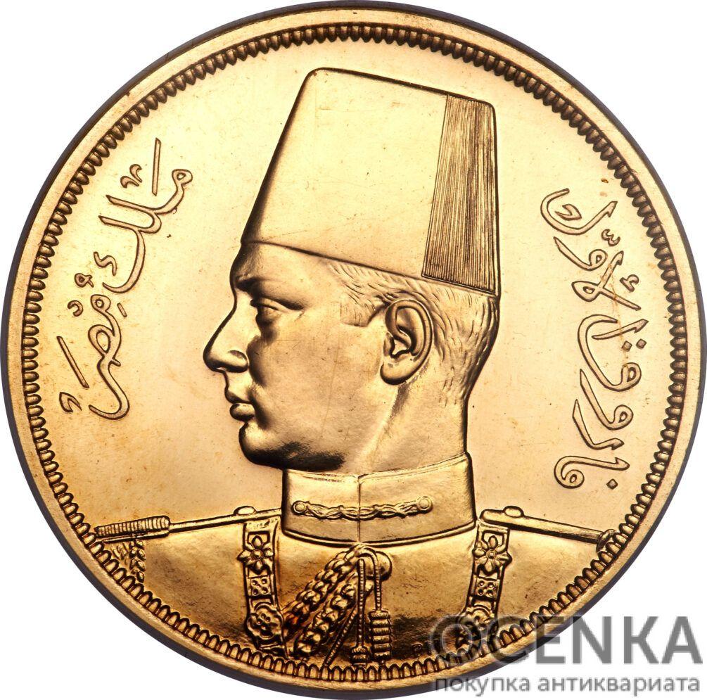 Золотая монета 5 Фунтов (5 Pounds) Египет - 3