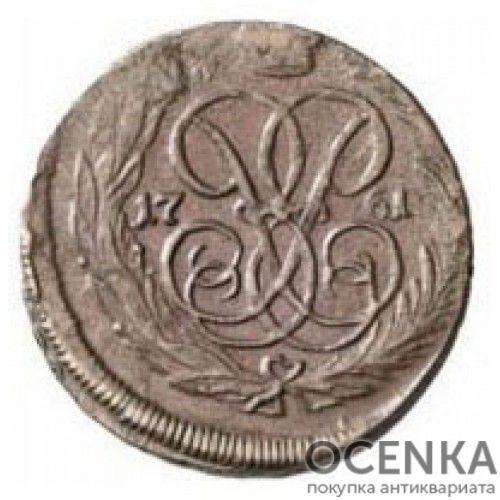 Медная монета 1 копейка Елизаветы Петровны - 4