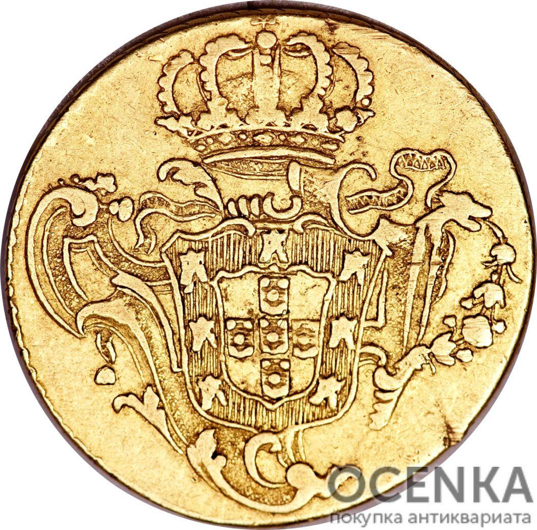 Золотая монета 3200 рейсов (3200 Réis) Бразилия - 3