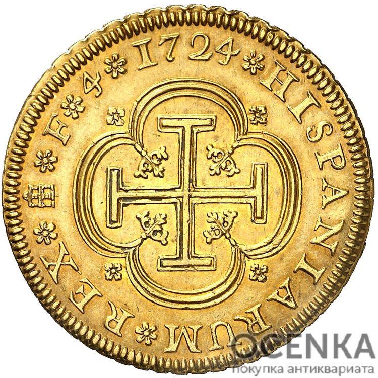 Золотая монета 4 Эскудо (4 Escudos) Испания - 2