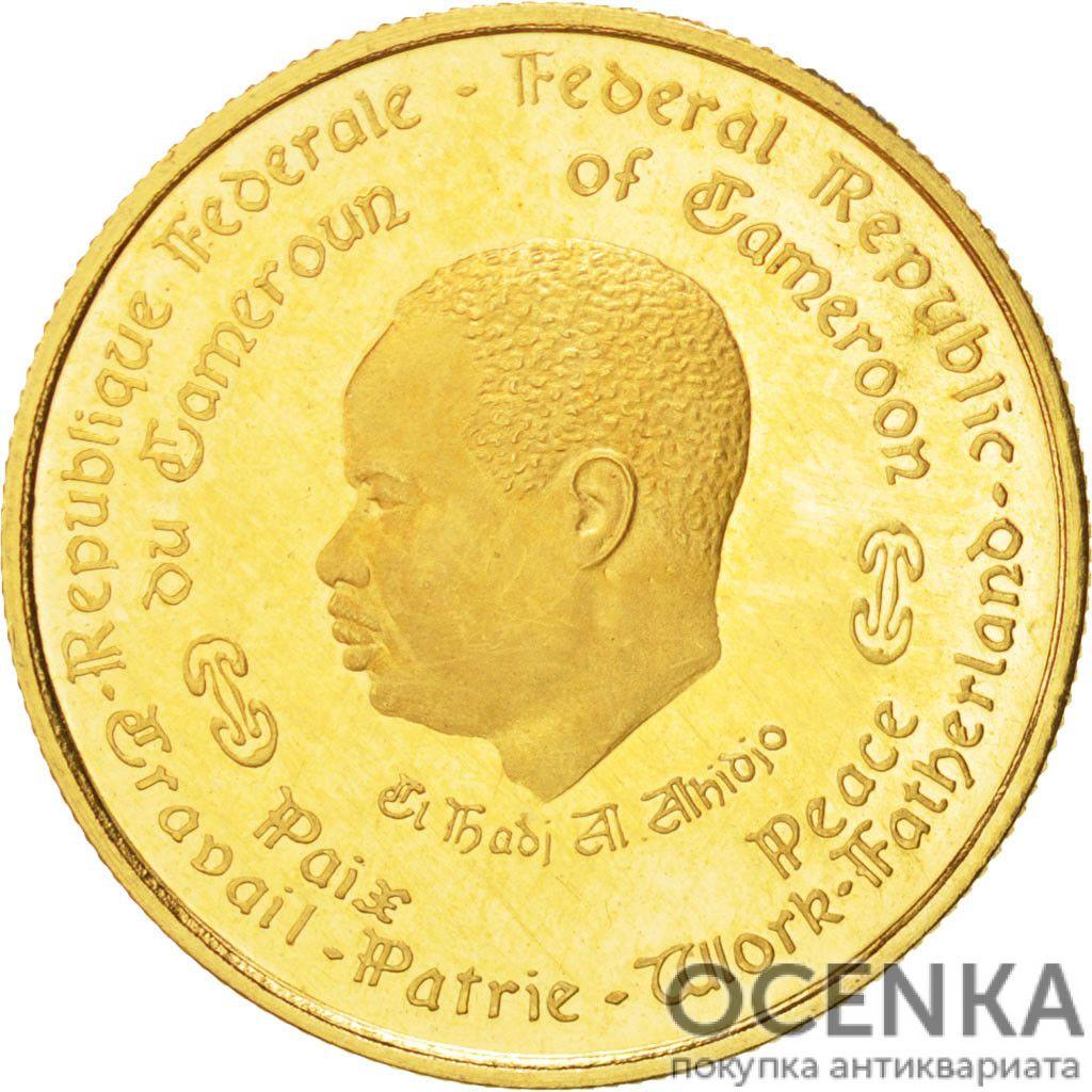 Золотая монета 1000 Франков (1000 Francs) Камеруна - 1