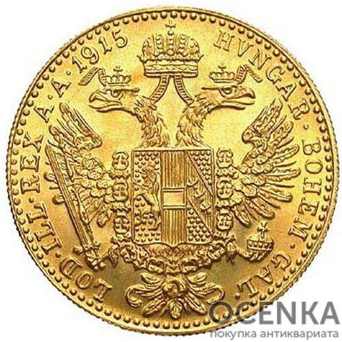 Золотая монета 1 дукат Австро-Венгрии - 6