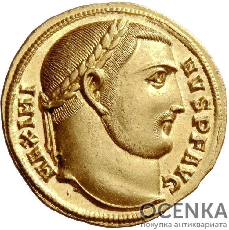 Золотой ауреус, Цезарь Гай Валерий Галерий Максимин II Август, 309-313 год