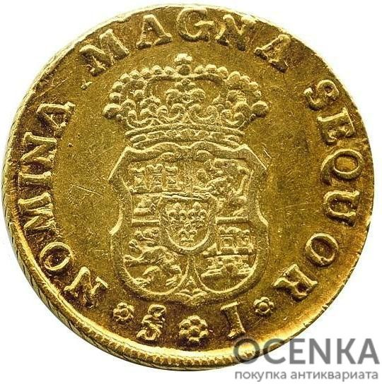 Золотая монета 2 Эскудо (2 Escudos) Чили - 2