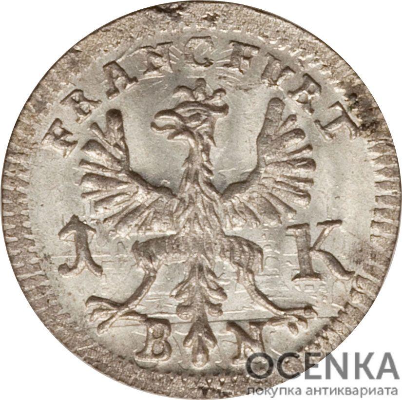 Серебряная монета 1 Крейцер (1 Kreuzer) Германия - 7