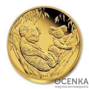 Золотая монета 15 долларов 2011 год. Австралия. Коала