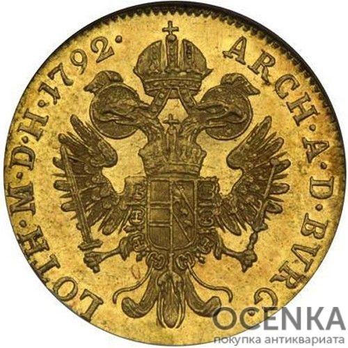 Золотая монета 1 дукат Австро-Венгрии - 2