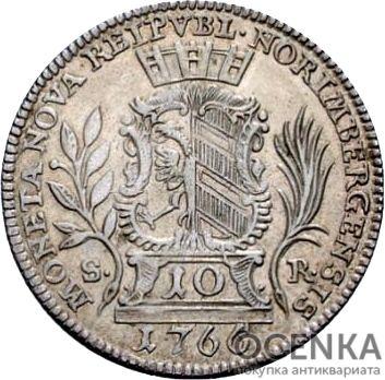Серебряная монета 10 Крейцеров (10 Kreuzer) Германия - 7
