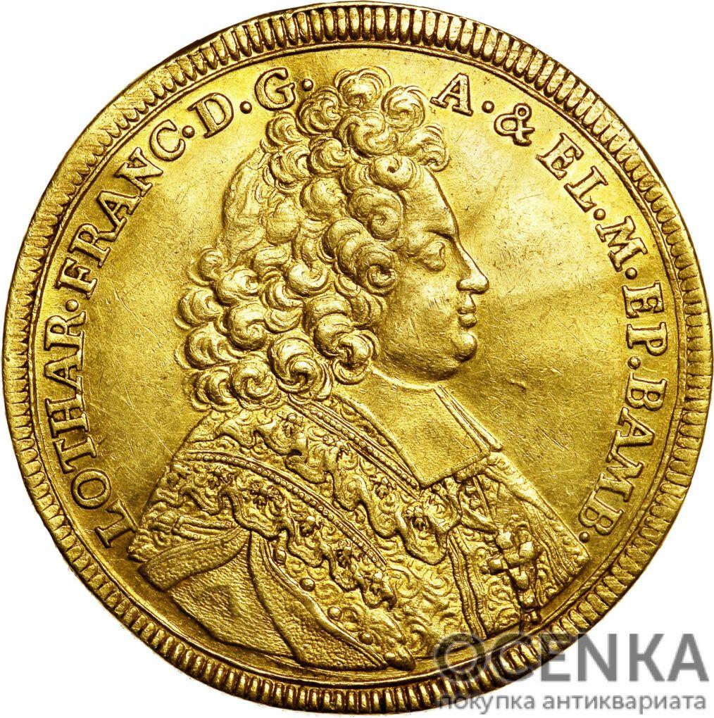 Золотая монета 5 Дукатов Германия - 3