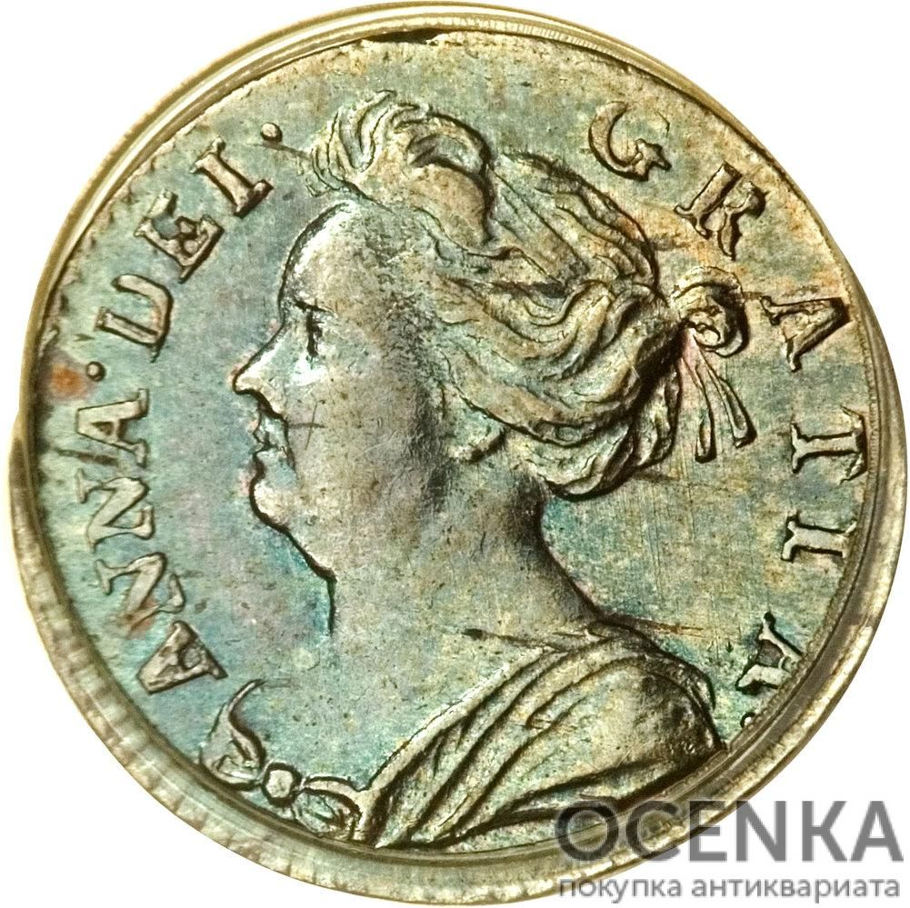 Серебряная монета 1 Пенни (1 Penny) Великобритания - 3