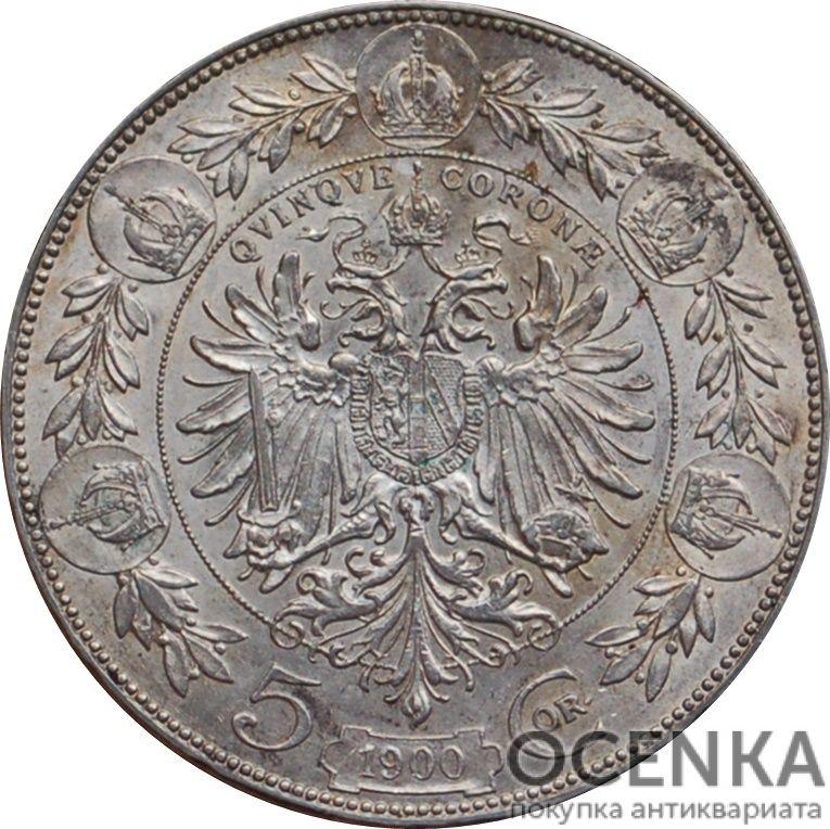 Серебряная монета 5 Крон (5 Corona) Австро-Венгрия