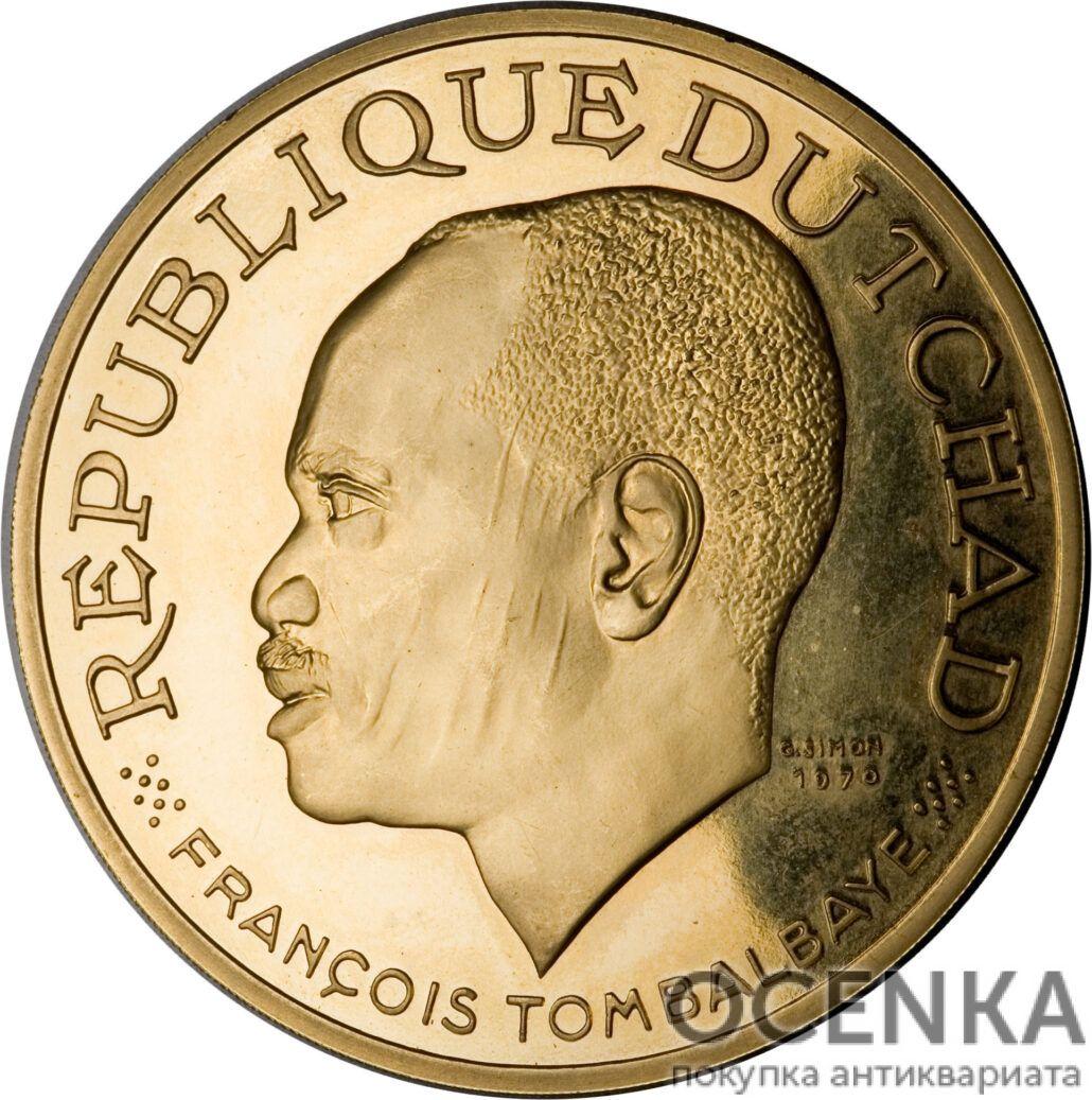 Золотая монета 20 000 Франков (20 000 Francs) Чад - 1