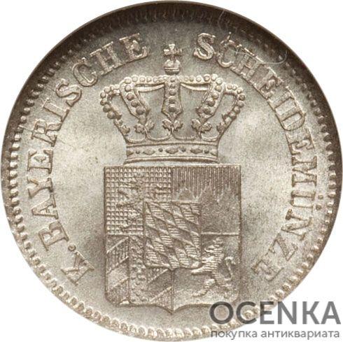 Серебряная монета 1 Крейцер (1 Kreuzer) Германия - 1