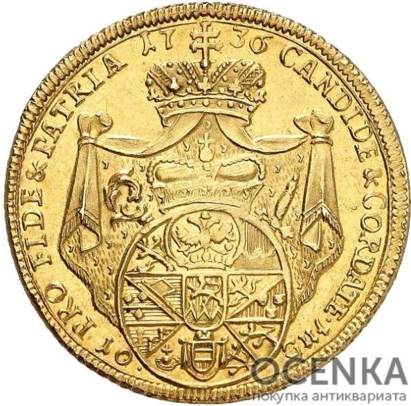 Золотая монета 10 Гульденов Германия - 4