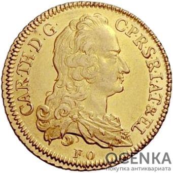 Золотая монета 1 Пистоль Германия - 5