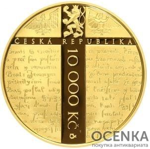 Золотая монета 10 000 Крон (10 000 Korun) Чехия