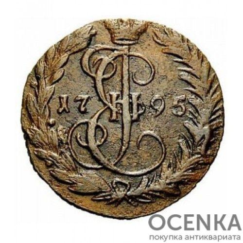 Медная монета Денга (Деньга) Екатерины 2 - 3