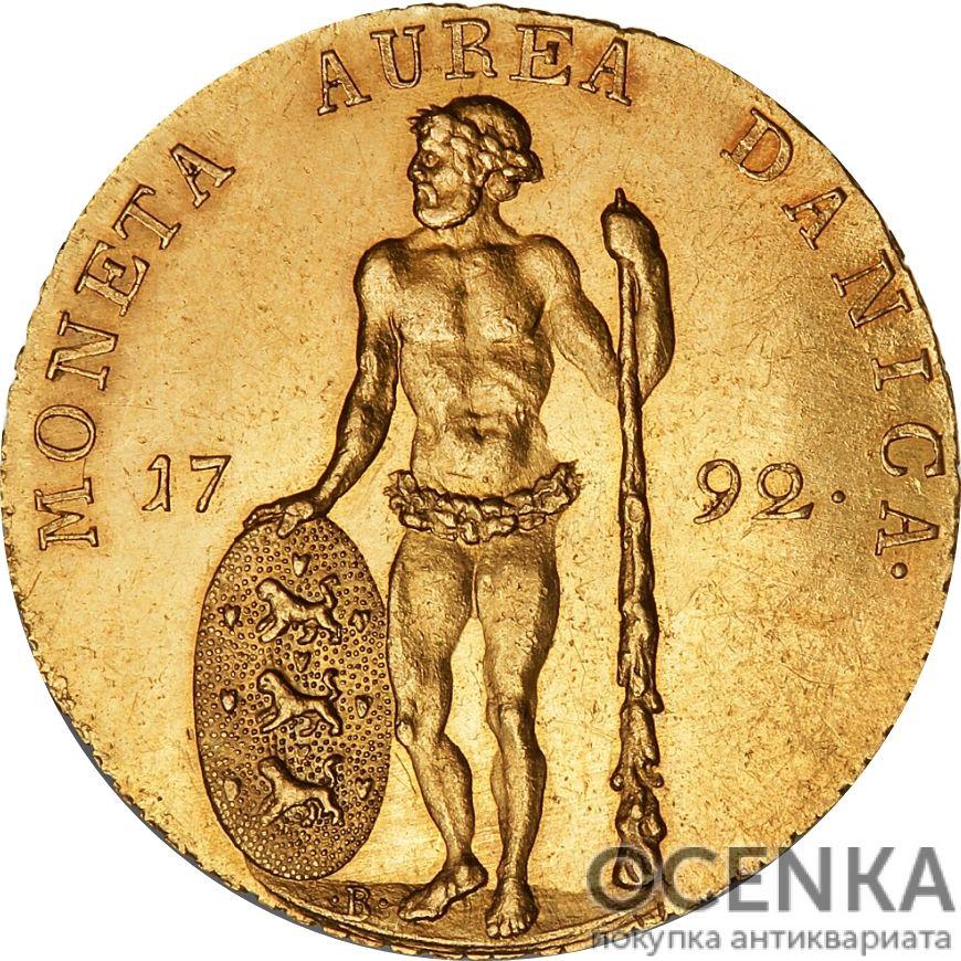 Золотая монета 1 Дукат (1 Ducat) Дания - 9