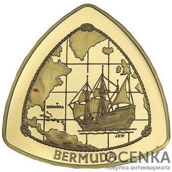 Золотая монета 180 долларов Бермудских островов - 1