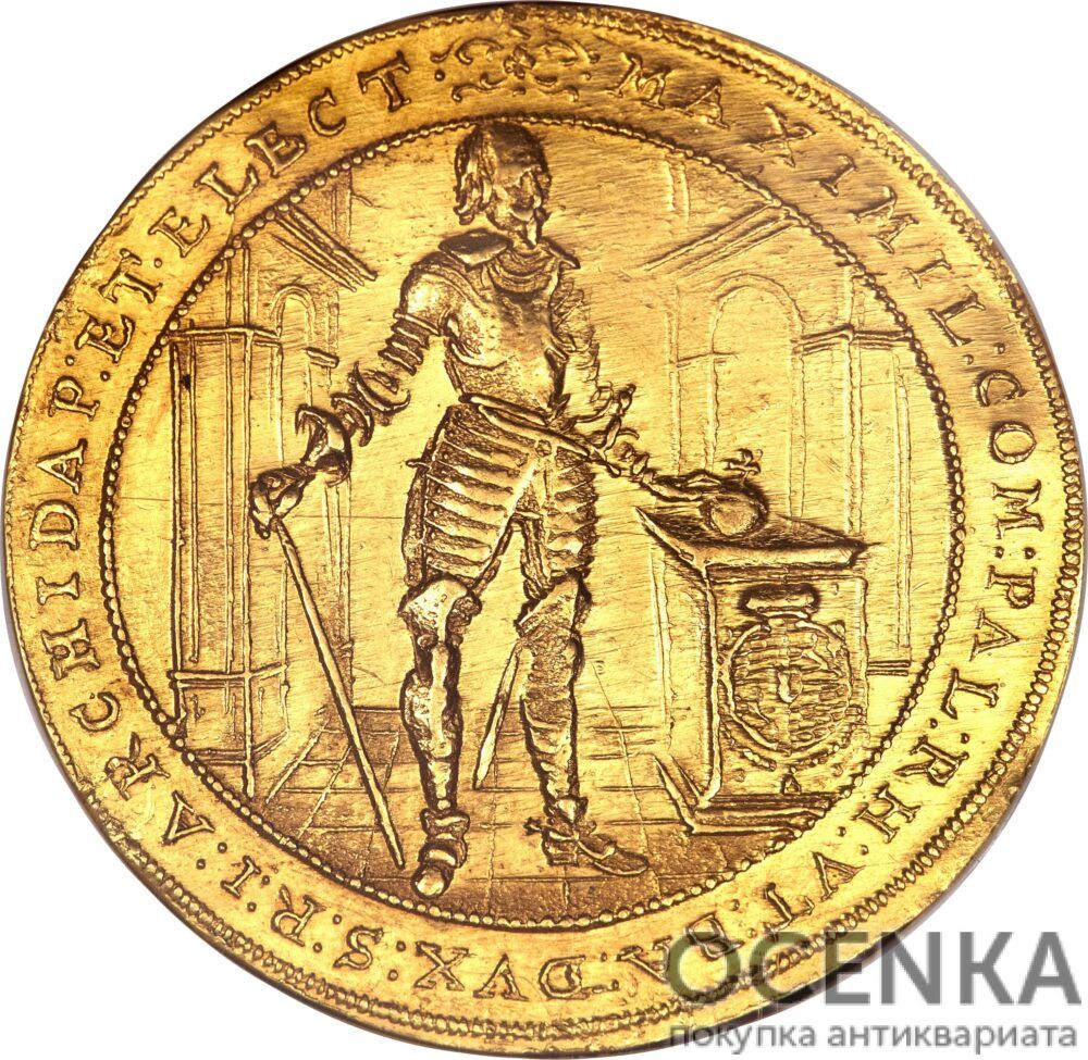 Золотая монета 5 Дукатов Германия