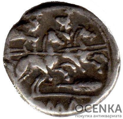 Серебряный Республиканский Денарий Анонимного выпуска, 211-208 год до н.э. - 1
