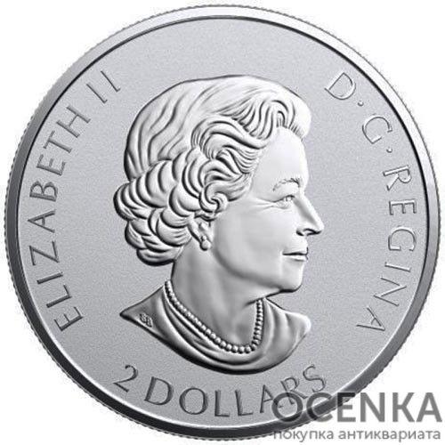 Серебряная монета 2 Доллара Канады - 7