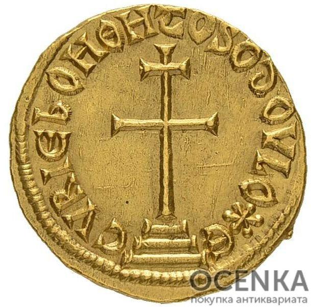 Золотой солид Византии, Феофил, 829-842 год - 1