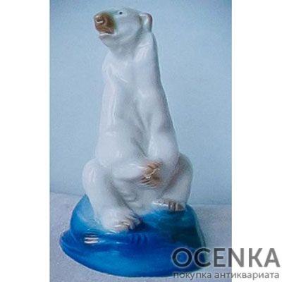 Статуэтка Белый медведь с рыбой