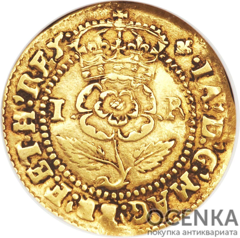 Золотая монета 1 Crown (крона) Великобритания