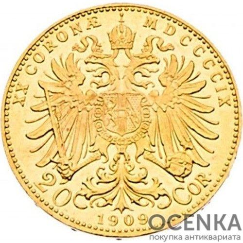 Золотая монета 20 крон Австро-Венгрии - 4